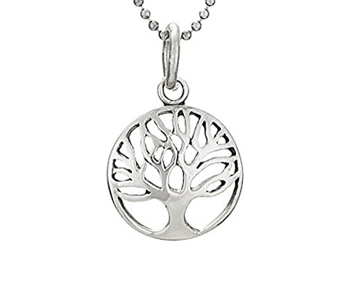 """Eden Framed - Designs by Nathan 925 Silver Framed Tree of Life Pendant Necklace, Cycle of Life, Eternal Life, 18"""""""