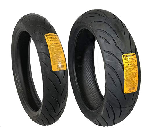 CONTINENTAL MOTION Tire Set 120/70zr17 Front & 180/55zr17 Rear 180 55 17 120 70 17 2 Tire - Stone Continental