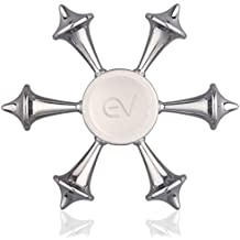 Eving Hands Fidget Spinner Ultra High Speed Bearings Good EDC Toy for Giving Up Smoking, Boredom, ADD and ADHD Adults & Kids about 2~4mins Spin Time -Silver