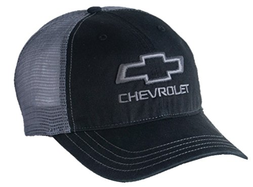 Chevrolet Open Bowtie Garment Washed Mesh Snapback Hat - Chevy Cap Baseball