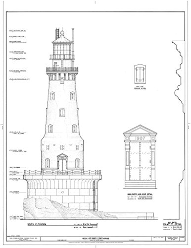 - Historic Pictoric Structural Drawing HABS MICH,42-COPHAR.V,3- (Sheet 5 of 10) - Rock of Ages Lighthouse, Copper Harbor, Keweenaw County, MI 44in x 55in