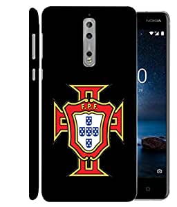 ColorKing Football Portugal 09 Black shell case cover for Nokia 8
