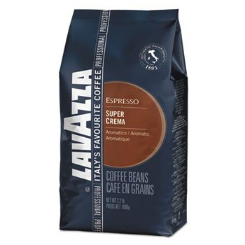 Super Crema Whole Bean Espresso Coffee, 2.2lb Bag, Vacuum-Packed