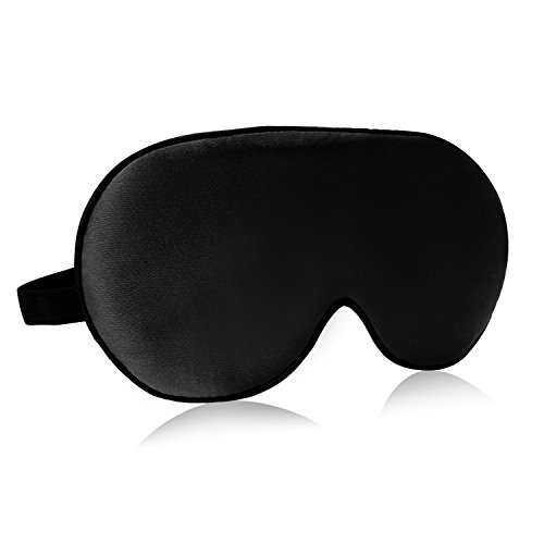 Mulberry Natural (Natural Mulberry Silk Sleep Mask, VenusCare Super Smooth & Soft Breathable Lightweight eye mask with Adjustable Strap for women & men - Travel, Household, Meditation, Nap and Daylight Sleeping (Black))