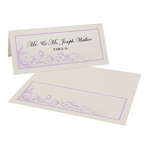 Scribble Vintage Swirl Easy Print Place Cards, Champagne, Lavender, Set of 325 (82 Sheets) by Documents and Designs