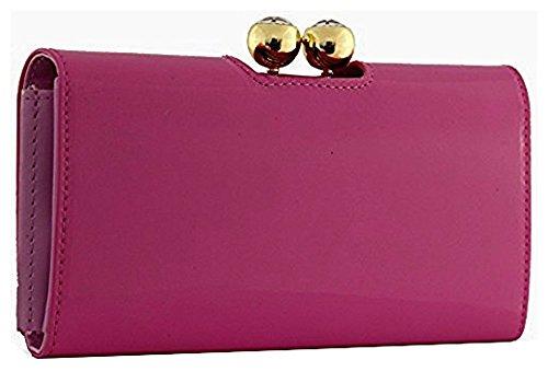LYDC KUKUBIRD purse Fuschia wallet Shiny Genuine Metallic PVC Bubble Crystal matinee Ladies GROSSY 41nxfxS