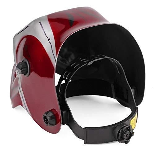 Solar Pro Auto Darkening - Casco de soldar, diseño de calavera, color rojo: Amazon.es: Bricolaje y herramientas