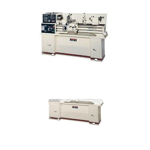 Jet 321122 GHB-1340A 13-Inch Swing by 40-Inch between Centers 230-Volt 1 Phase Geared Head Bench Metalworking Lathe with Acu-Rite 200T Digital Read Out with CBS-1340 Stand by Jet