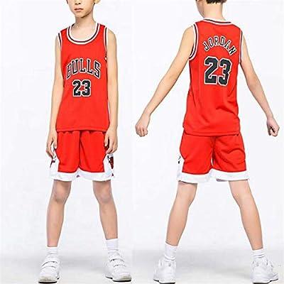 Niño NBA Michael Jordan # 23 Chicago Bulls Retro Pantalones Cortos de Baloncesto Camisetas de Verano Uniformes y Tops de Baloncesto: Amazon.es: Deportes y aire libre