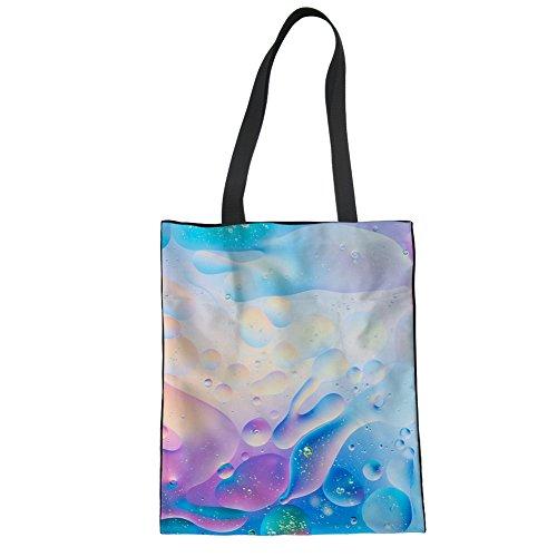 Girls Shopper Womens Shopping Bag Multi Canvas 5 Shoulder Cool multi Books Tote Pattern Groceries wqRAft
