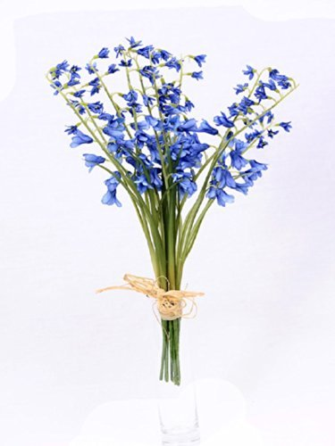 Artificial Bluebells Wild Flowers Tied Bunch of 10 Individual Stems Bundle Posy 120 Flower Heads by MaxJam