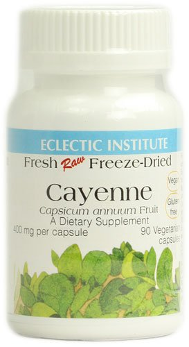 Eclectic Institute Cayenne -- 400 mg - 90 Vegetarian Capsules - 2PC by Eclectic Institute