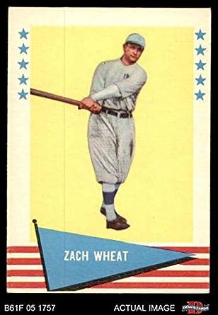 Amazoncom 1961 Fleer 86 Zach Wheat Brooklyn Dodgers Baseball