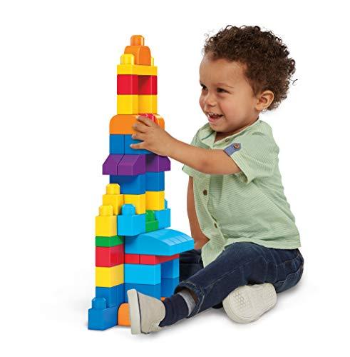 Mega Bloks, bolso de construcción grande de 80 piezas, clásico
