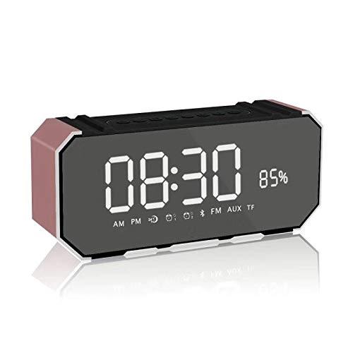 xingganglengyin Mirror Bluetooth Speaker Portable Multifunction Sound Blaster with Alarm Clock Insert U Disk Dual Speaker Subwoofer l Bluetooth Speaker by xingganglengyin (Image #6)