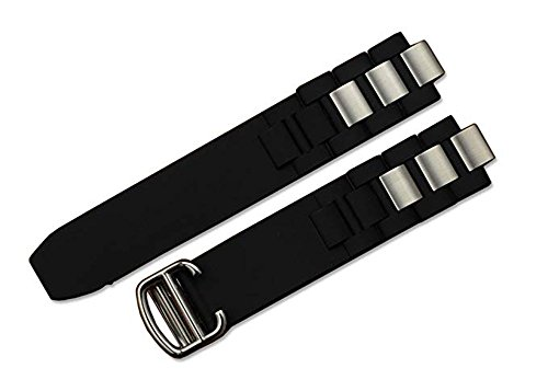 - iStrap 20mm Rubber + 10mm Metal Watch Band for Men Fit Cartier Chronoscaph Autoscaph 21