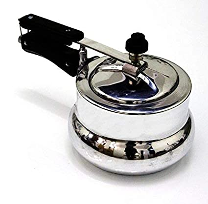 Akshat Deluxe Alpha Baby Handi Aluminium Pressure Cooker, 2 Litres, Silver