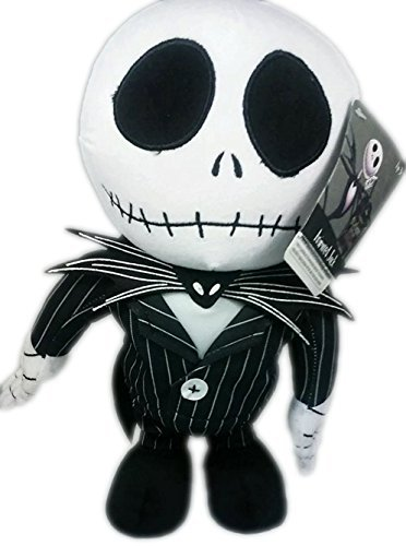 Disneys / Tim Burtons the Nightmare Before Christmas 12 Jack Skellington Musical Animated Plush Figure Featuring Instrumental This Is Halloween ()