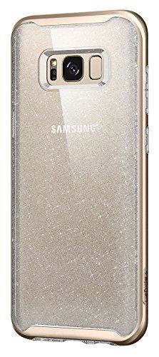 Spigen Neo Hybrid Crystal Glitter Designed for Samsung Galaxy S8 Plus Case (2017) - Gold Quartz