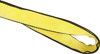 Mazzella EE2 Edgeguard Nylon Web Sling, Eye-and-Eye, Yellow, 2 Ply, Twist Eyes, Vertical Load Capacity