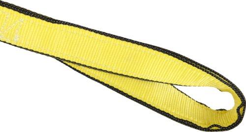 Mazzella EE2-901 Edgeguard Nylon Web Sling, Eye-and-Eye, Yellow, 2 Ply, 6' Length, 1
