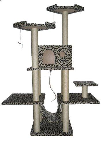 70″ Cat Tree Condo Furniture Scratch Post Pet House 11L, My Pet Supplies