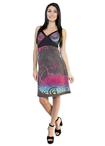 Coton Du Monde-vestido de princesa color Gris Multicolor