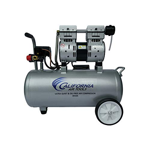 California Air Tools 8010A Ultra Quiet & Oil-Free Lightweight Air Compressor (Compressor Air Small)