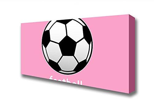 Panorámica Rosa Futbol de fútbol de balón de fútbol 1 Lienzo ...