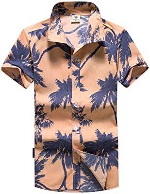 LFNANYI Moda para Hombre de Manga Corta Camisa Hawaiana más el tamaño M-5XL Verano Gaviota impresión Casual Floral Camisas de Playa para Hombres 5XL: Amazon.es: Deportes y aire libre