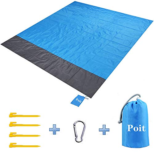 Poit Picnic Blanket Mat, Camping Blanket Mat, Outdoor Blanket Mat, Beach Blanket Mat, 79''×83'' Large Size