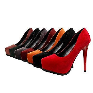 Women'sHeels Heel Dress Comfort UK3 Fall EU35 CN34 US5 Spring Suede Stiletto rZx6rwq