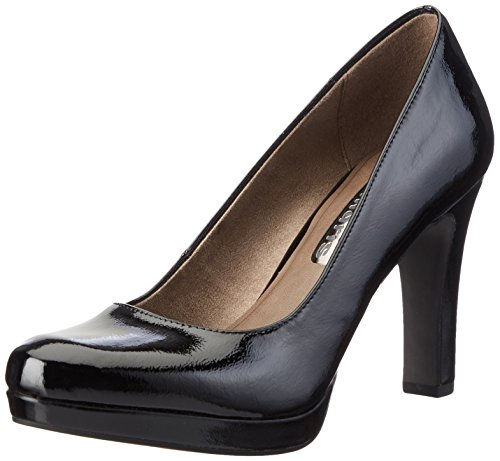 Tamaris Damen 22426 Pumps Schwarz (BLACK PATENT 018)