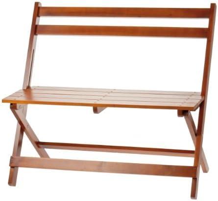 Banco de madera,, banco plegable marrón, banco plegable, banco del jardín, de dos plazas, Banco balcón: Amazon.es: Jardín
