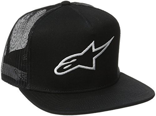 Alpinestars Young Men's Corp Trucker Hat, Black, - Trucker Custom Flexfit Hat