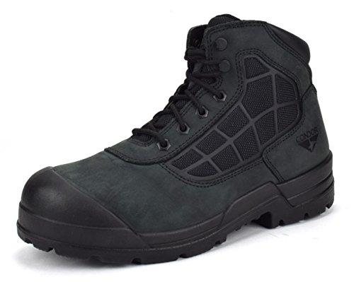"CONDOR Wyoming Men's 6"" Steel Toe Work Boot - Black Nubuck, Size 11 E US"