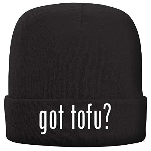 BH Cool Designs got tofu? - Adult Comfortable Fleece Lined Beanie, Black