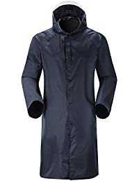 3be57f6e8b94d Unisex Rain Coat for Mens Rainwear Waterproof Rain Jacket Long Sleeve  Raincoat