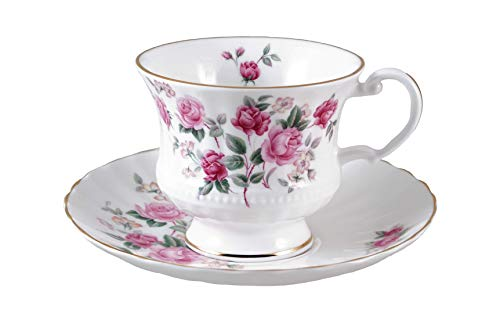 OLD ENGLISH Cup and Saucer - Fine English bone china