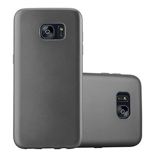 Cadorabo - Cubierta Protectora para >                          Samsung Galaxy S7 EDGE                          < de Silicona TPU con Efecto Metálico Mate
