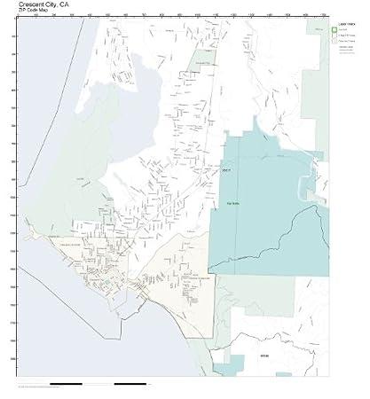 Amazon Com Zip Code Wall Map Of Crescent City Ca Zip Code Map