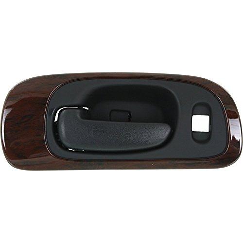 Evan-Fischer EVA187122014196 Interior Door Handle for CONCORDE 98-04 Front LH Inside Black w/Woodgrain Bezel w/6 Nuts (Woodgrain Bezel)