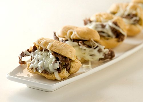 Order Wholesale Philly Cheese Steaks for Party - Gourmet Frozen Beef Appetizers (Set of 4 Trays) by Appetizersusa