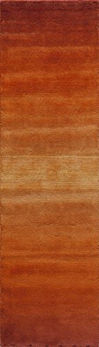 """Momeni Rugs METROMT-12PAP2380 Metro Collection, 100% Wool Hand Loomed Contemporary Area Rug, 2'3"""" x 8'3"""" Runner, Paprika"""