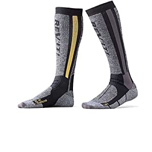 Rev'it - Calcetines moto TOUR Invierno - Talla : 45/47 - Color : Gris/Negro