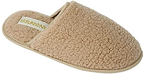 New Women's Microterry Spa Slide Clog Slippers Available in 4 Colors sunville