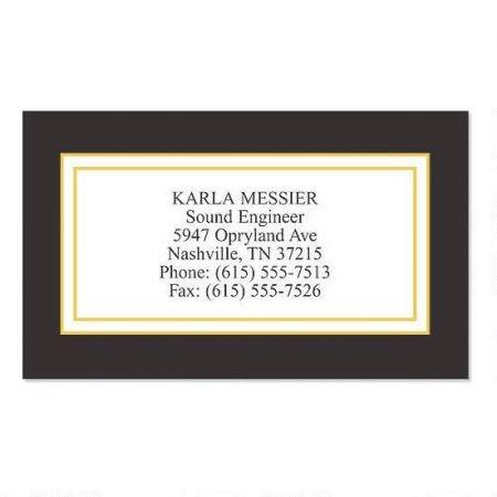 Black Classic Business Cards - Set of 250 2'' x 3-1/2 custom business card design; 80# Cover Stock, Opaque, Matte