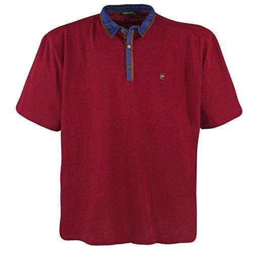 Sportliches Herren Poloshirt kurzarm in Übergröße von Lavecchia aus reiner Baumwolle in rot von 3XL bis 7XL