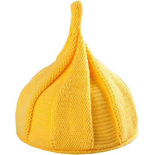 おしゃぶり形親子帽子(手編み) 超可愛いどんぐり帽子 ハーシーのキス形 小顔効果 裏起毛 極暖 秋冬大活躍!
