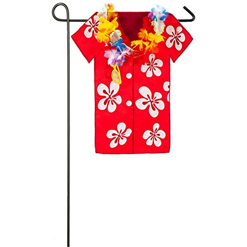 Evergreen Hula Shirt Outdoor Safe Double-Sided Applique Gard